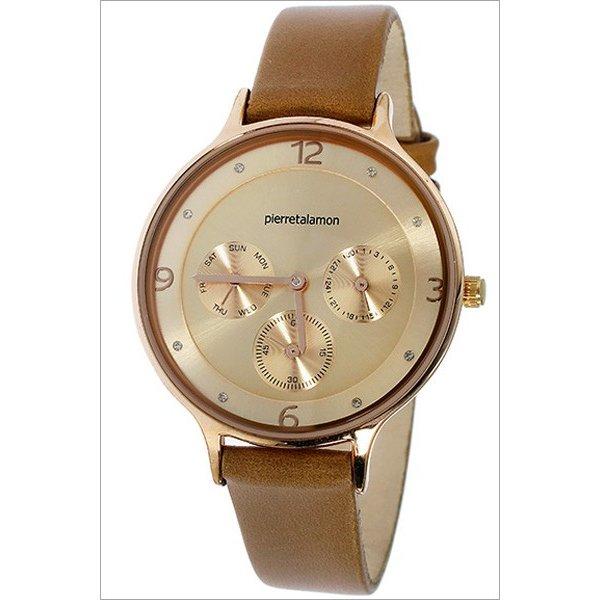 ラッピング無料 ランキングTOP10 即日発送可能 Pierre Talamon ピエール タラモン 新商品 レザーベルト 定価 ピンクゴールド×ブラウン PT-1500L-2 レディース クォーツ 腕時計