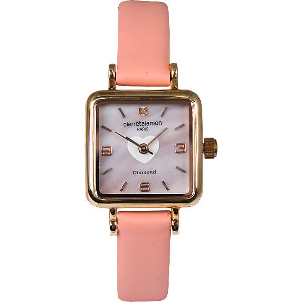 ラッピング無料 即日発送可能 Pierre Talamon ピエール タラモン 品質保証 腕時計 卓越 PT-7000L-4 ピエールタラモン レディース ピンク×ピンクゴールド 並行輸入品 クオーツ PIERRETALAMON