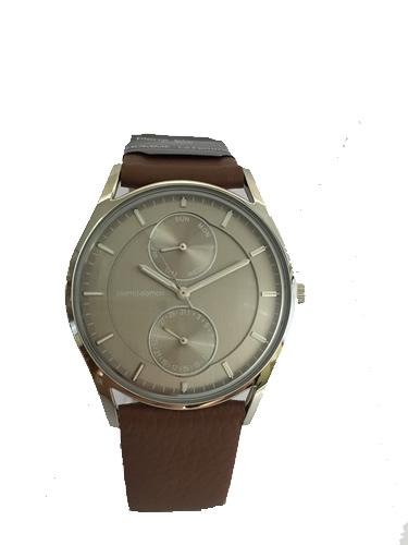 Pierre Talamon ピエール・タラモン 腕時計 PT-5500H-3 グレー×ブラウン クォーツ 新商品