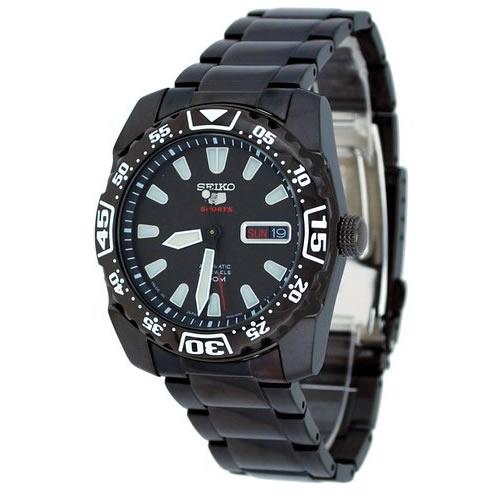 SEIKO/SEIKO5 Sports【セイコー5スポーツ/ファイブスポーツ】自動巻 メンズ腕時計 MADE IN JAPAN ブラックメタルベルト ブラック文字盤 SRP169J1海外モデル [逆輸入品]