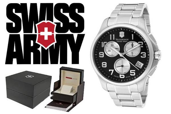 VICTORINOX ビクトリノックス SWISS ARMY 腕時計 241455 ブラック×シルバー メンズ