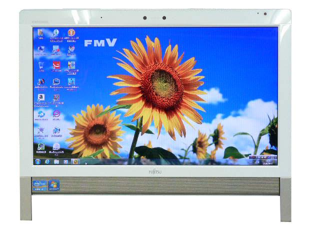 富士通 デスクトップパソコン 中古パソコン FH58/DM ホワイト デスクトップ 一体型 本体 Windows7 Core i5 ブルーレイ 地デジ/BS/CS 4GB/1TB 送料無料 【中古】