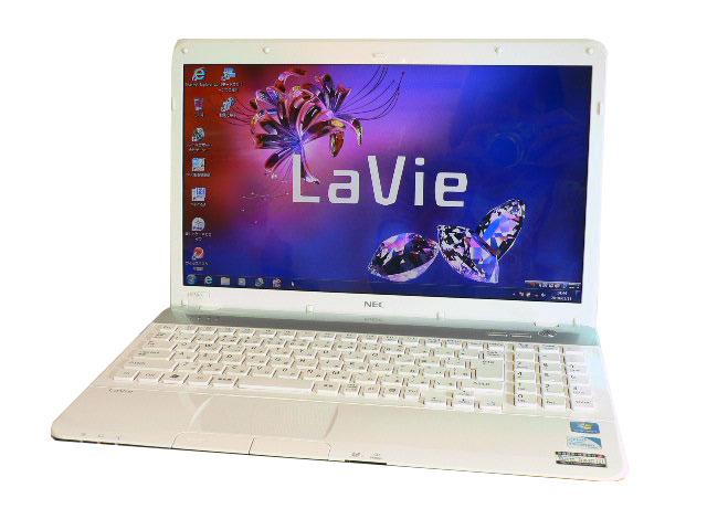 NEC ノートパソコン 中古パソコン LS150/F ホワイト テンキー ノート 本体 Windows7 Celeron ブルーレイ 4GB/500GB 送料無料 【中古】