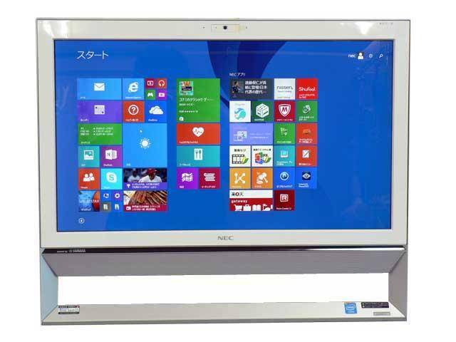 NEC デスクトップパソコン 中古パソコン VS350/S ホワイト デスクトップ 一体型 本体 Windows8.1 Celeron DVD 4GB/1TB 送料無料 【中古】