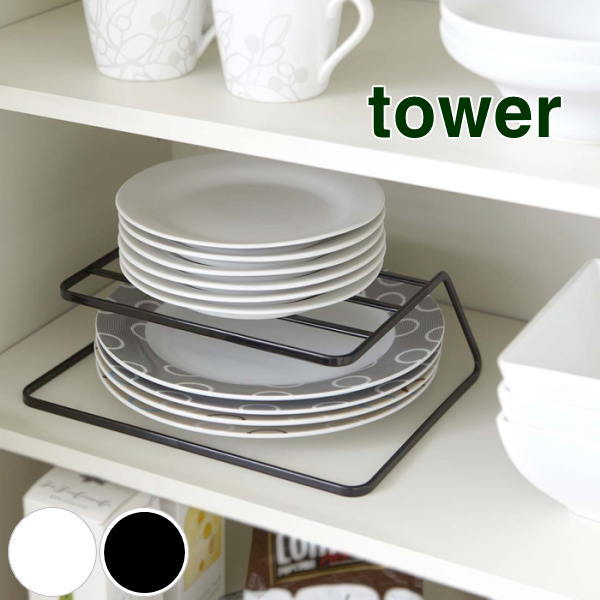... dish storage / plate rack / tableware shelf / tableware shelf storage / tableware shelf arrangement /tower / Tower/dish rack/white Dinnerware storage & e-piglet | Rakuten Global Market: Holder plate vertical / plate ...