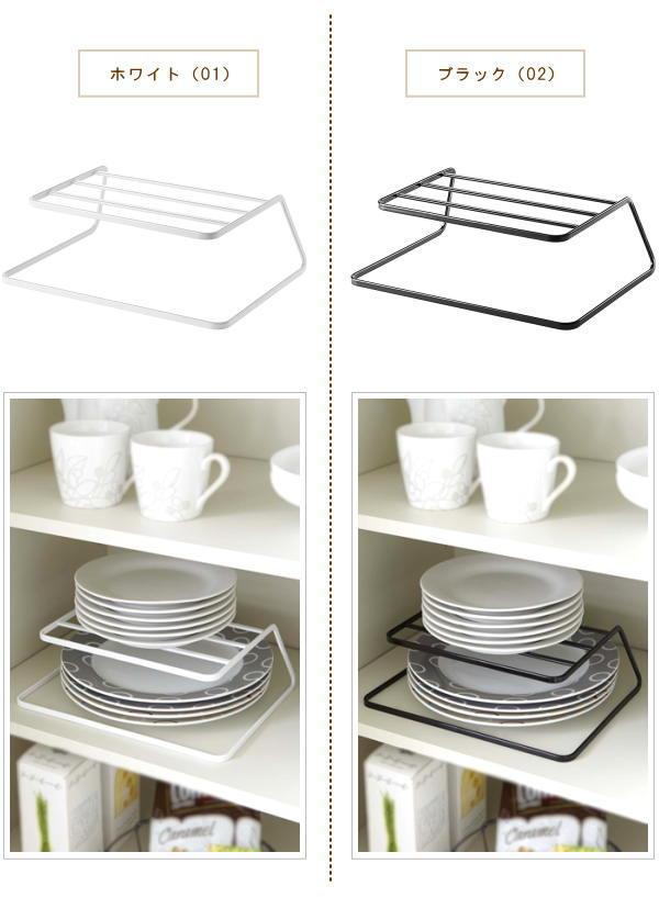 ... dish storage / plate rack / tableware shelf / tableware shelf storage / tableware shelf arrangement /tower / Tower/dish rack/white Dinnerware storage  sc 1 st  Rakuten & e-piglet | Rakuten Global Market: Holder plate vertical / plate ...