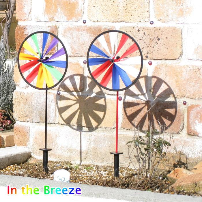 かざぐるま ガーデニングやアウトドアに 楽しく風を運んでくれる風車 即出荷 風車 卓抜 カラフル キャンプ フェス レインボー 目印 ITB-2832 in the breeze ガーデン風車 1着でも送料無料 ガーデン 虫よけ 鳥よけ インザブリーズ テント 定形外郵便OK アウトドア ウインドウィールスピナー ガーデニング
