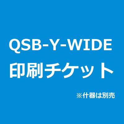 QSB-Y-WIDE専用 スクリーン印刷チケット スクリーン見え寸:W700×H2100mm×1枚 スクリーン素材:ターポリン(四方ハトメ加工)※バナースタンド本体は別売 【B019】【メーカー直送☆】