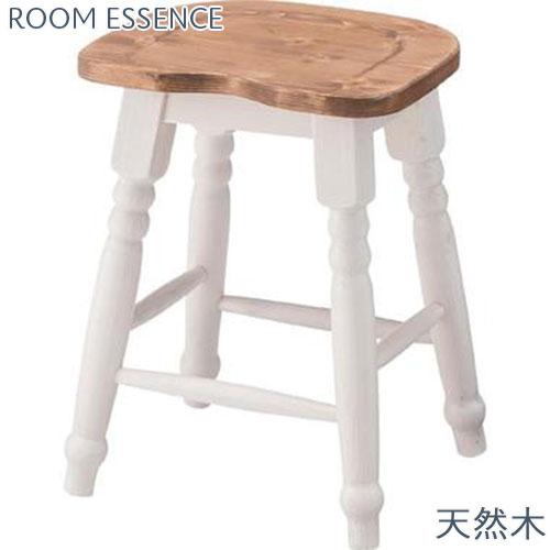 『 スツール 』椅子 いす イス チェア チェアー 天然木(パイン材) 木製 シンプル かわいい 可愛い カワイイ おしゃれ オシャレ ナチュラルな色 落ち着いた色 ガーデニング ガーデン エクステリア フレンチカントリー 部屋 幅約35センチ 高さ約45