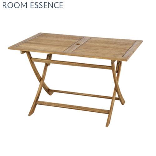 ガーデンテーブル 『 ガーデンテーブル 』折りたたみテーブル 折り畳み式テーブル おりたたみテーブル 四人用 庭用テーブル アウトドアテーブル 屋外テーブル ダイニングテーブル カフェテーブル パラソル用の穴 アカシア 木製 折りたたみ