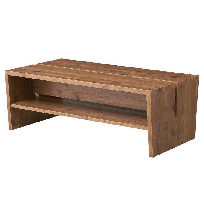 『マガジンラック テーブル』 ローテーブル テーブル センターテーブル コーヒーテーブル ソファテーブル リビングテーブル ソファーテーブル 木製テーブル 木製調 木目調 棚付き マガジンラック付き 幅100cm おしゃれ 北欧 シンプル ナチュラル カフェ