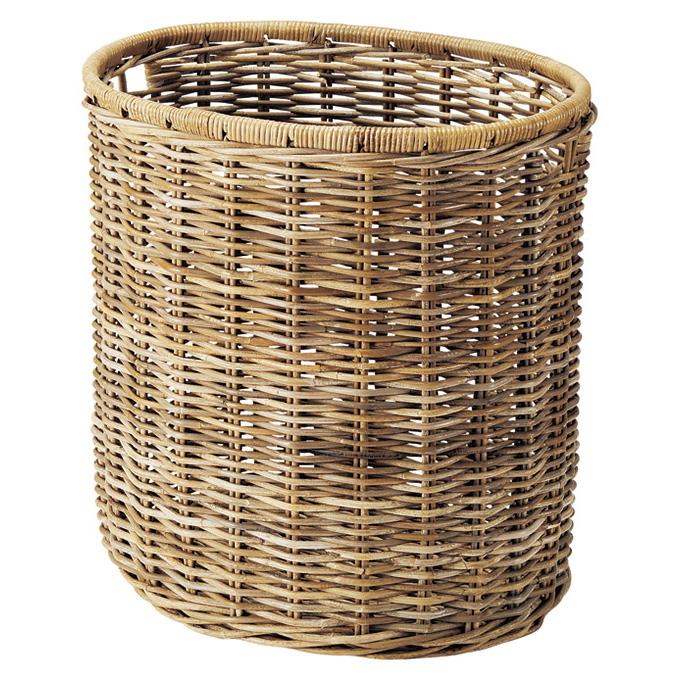 『 かご 』カゴ 籠 バスケット 店舗什器 小物入れ 小物収納ケース 収納ケース おもちゃ箱 ゴミ箱 ごみ箱 くずかご おしゃれ かわいい 可愛い アジアン シンプル ナチュラル 編み コボ 丸い 丸形 大きい 大きめ 大型 深い 深型 軽い 軽量