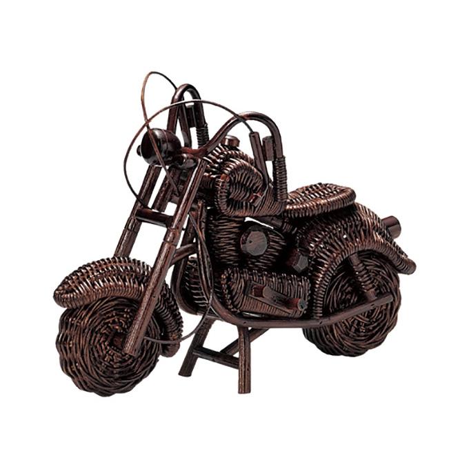 『 オブジェ 』置物 インテリアオブジェ エクステリア おしゃれ かわいい 可愛い レトロ 北欧 アンティーク調 籐 ラタン リビング ダイニング 寝室 子ども部屋 子供部屋 木製 ギフト 贈り物 プレゼント バイク置物