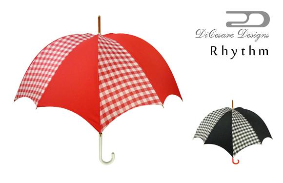 日本製 デザイナーズブランド 傘 DiCesare Designs Rhythm ディチェザレ デザイン リズム 『gingham』 女性用 雨傘 かさ カサ 防水 撥水 おしゃれ お洒落 モダン かわいい 高級 上品 クリスマス プレゼント