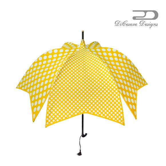 日傘 レディース DiCesare Designs ディチェザレ デザイン 『 マルガリータ ダブルドット』 晴雨兼用傘 傘 かさ カサ 雨傘 umbrella 婦人傘 デザイン傘 長傘 おしゃれ かわいい デザイン ガーリー 女性用 贈り物 ギフト プレゼント エレガント 上品 シック ドッ
