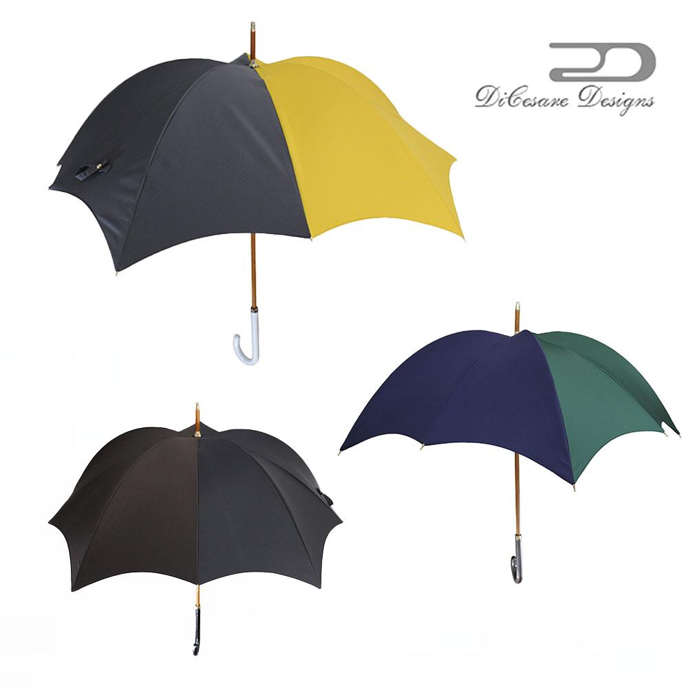 【 大人のための、大人の雨傘 】『Rhythm Pumpkin 雨傘 ladies 2 T O N E』雨傘 DiCesare Designs ディチェザレ デザイン 傘 レディース ブランド おしゃれ 長傘 日本製 お洒落 かわいい プレゼント 軽量 軽い 丈夫 大きい