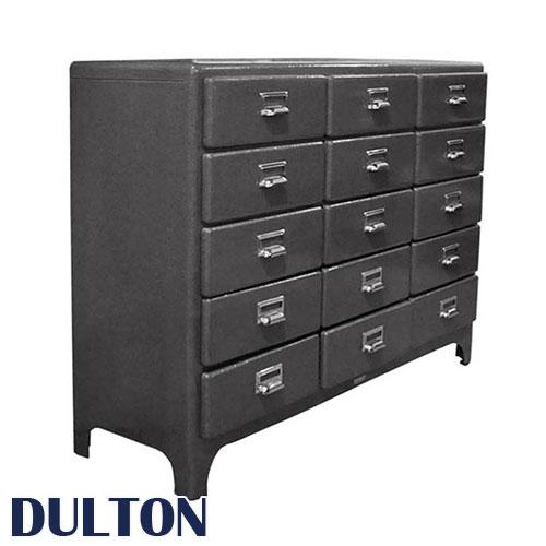 DULTON ダルトン 3 cloumns by 5 drawers チェスト 収納家具 整理ダンス 引き出し 引出し 小物収納 書類入れ 工具入れ 多段チェスト リビングチェスト 収納棚 整理棚 書類収納 リビング 5段 スチール 書類 大容量 シンプル レトロ アメリカン 五段 黒 業務用