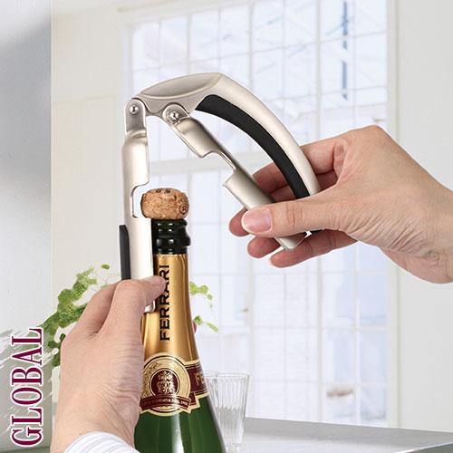 『サルート シャンパンオープナー』 栓抜き 簡単 安全 シャンパンオープナー コルクが飛ばない プレゼント ギフト 贈り物 ラッピング ギフトラッピング 贈答 贈答品 のし 熨斗 その他 プリズム pr
