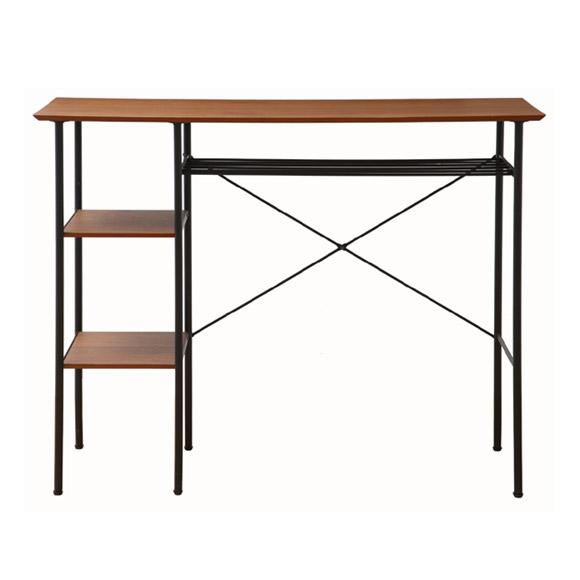 『カウンターテーブル Counter Table』 サイドテーブル パソコンデスク PCデスク パソコンテーブル PCテーブル 木製 スチール レトロ ビンテージ アンティーク ミッドセンチュリー シンプル おしゃれ お洒落 バーテーブル