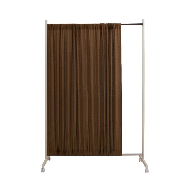 《日本製》 間仕切りパーテーション幅94.5高さ180.5cm ブラウン色 パーテーション スクリーン パーティション 衝立 間仕切り 目隠し 間仕切り壁 間仕切りパーテーション 間仕切りパーティション キャスター おしゃれ 日本製 オフィス リビング ダイニン