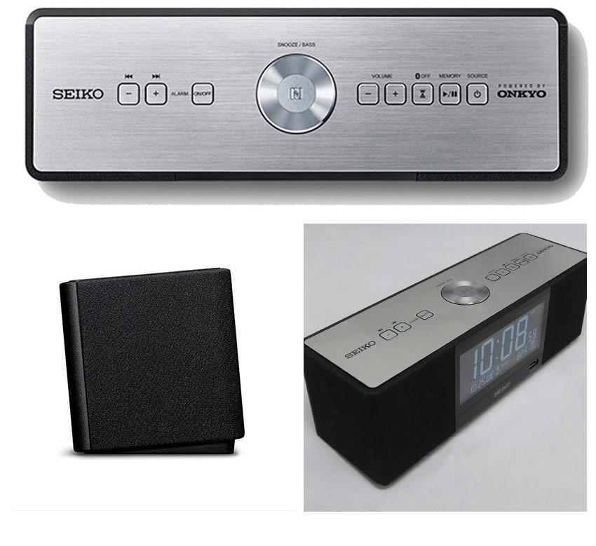 Onkyoが認めた高音質 『 SEIKO セイコー 置時計 』 置き時計 デジタル おしゃれ ブルートゥース スマホスピーカー bluetooth スピーカー スマホ おしゃれ 音楽 スマホ用スピーカー スマートフォン用スピーカー メロディー 見やすい かっこいい オンキョー ワイヤレス