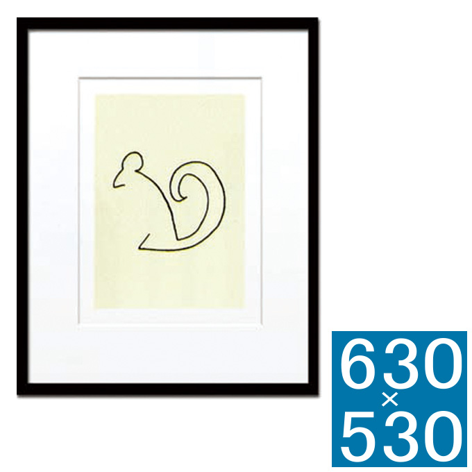 『アートフレーム Pablo Picasso L'flamand rose (Silk screen)』 アートフレーム フレーム 壁飾り 額縁 壁掛けインテリア 壁掛けアート インテリアフレーム 絵画 版画 シルクスクリーン Pablo Picasso L'Ecureuul おしゃれ かわいい 可愛い 北欧 縦型