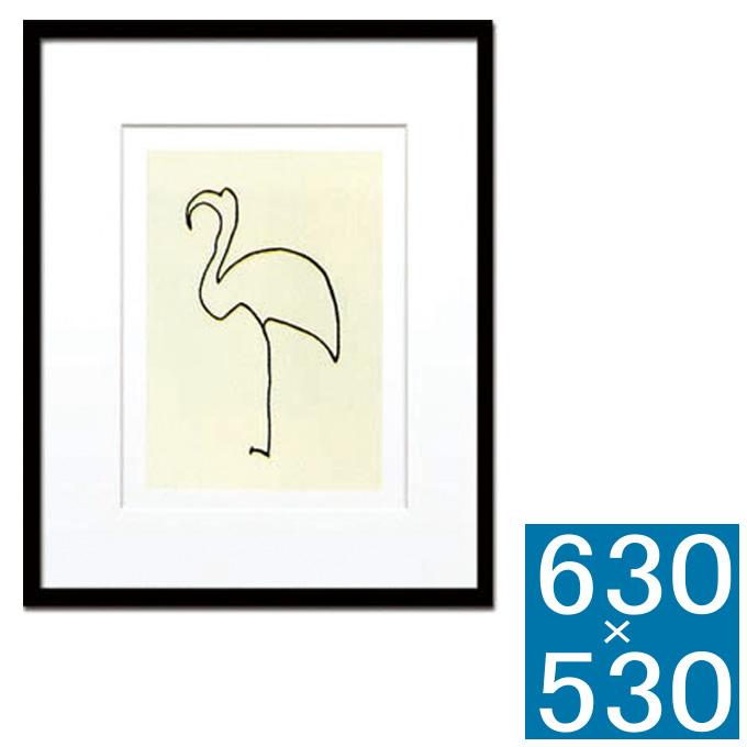 『アートフレーム Pablo Picasso L'flamand rose (Silk screen)』 アートフレーム フレーム 壁飾り 額縁 壁掛けインテリア 壁掛けアート インテリアフレーム 絵画 版画 シルクスクリーン Pablo Picasso L'flamand rose おしゃれ かわいい 可愛い 縦型 モダン