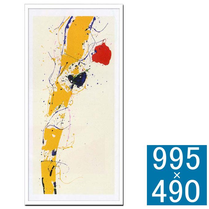 『アートフレーム Sam Francis Untitled,1985(Silk screen)』 アートフレーム フレーム 壁飾り 額縁 壁掛けインテリア 壁掛けアート インテリアフレーム 抽象画 絵画 版画 シルクスクリーン Sam Francis Untitled,1985 おしゃれ 北欧 長方形 縦型 モダン