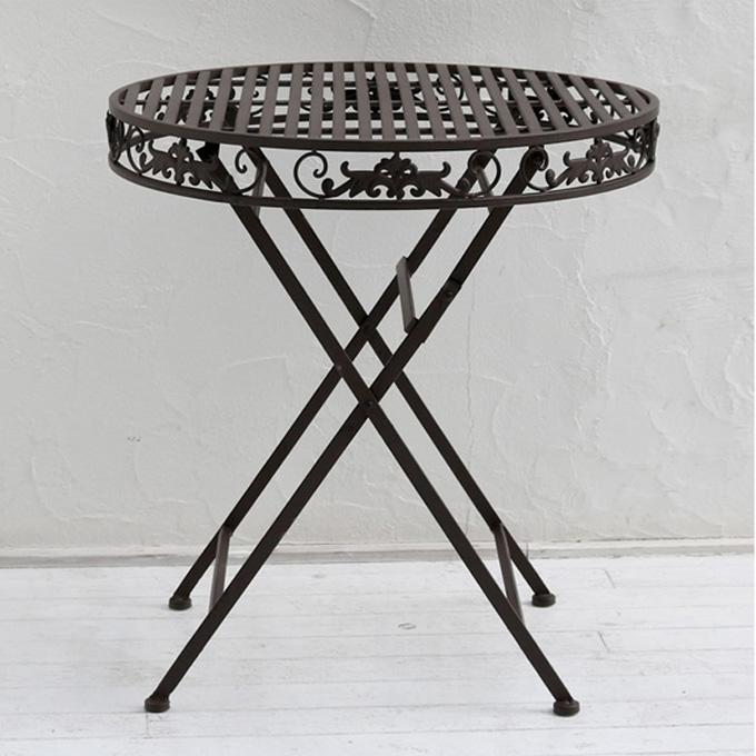 『アイアンテーブル70』 ガーデンテーブル テーブル アイアンテーブル 庭用テーブル 屋外テーブル カフェテーブル ガーデンファニチャー 丸テーブル エクステリアテーブル アイアン ホワイト 白 北欧 アンティーク調 おしゃれ シンプル ガーデン 庭 カフェ 店舗