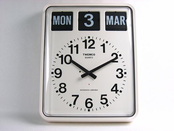 TWEMCO トゥエンコ 『パタパタカレンダークロック アナログ式』 BQ-20 掛け時計 インテリア小物 置物 時計 壁掛け時計 掛時計 壁掛時計 インテリア カレンダー カレンダークロック ウォールクロック トゥエムコ