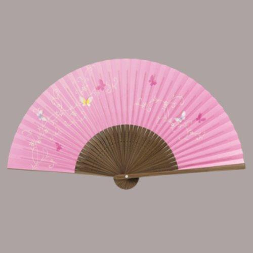 婦人用扇子(6.5寸35間) 蝶 まとめ買い10本