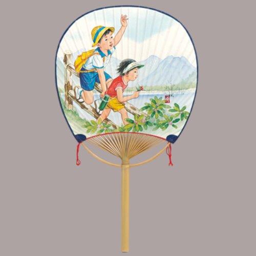 学祭 お祭り イベント 文化祭 日本限定 バザー コンサート フェス 名入れ 即納 玉子型 応援 まとめ買い30本 丸竹うちわ 子供ピクニック