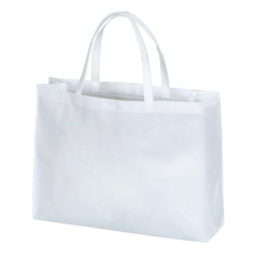 名入れ 不織布バッグ(A4横) 白