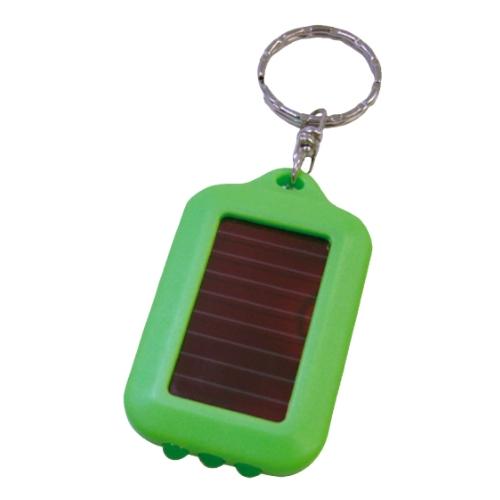 名入れ ソーラーLEDキーホルダー ライトグリーン