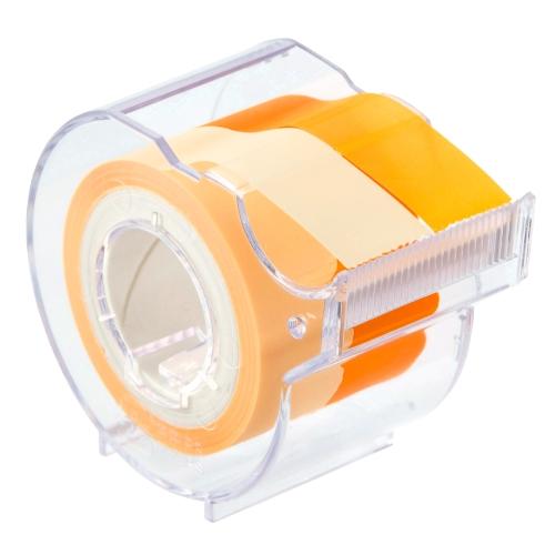 名入れ ヤマト メモックロールテープ フィルムタイプ(15mm幅) アイボリー&オレンジ