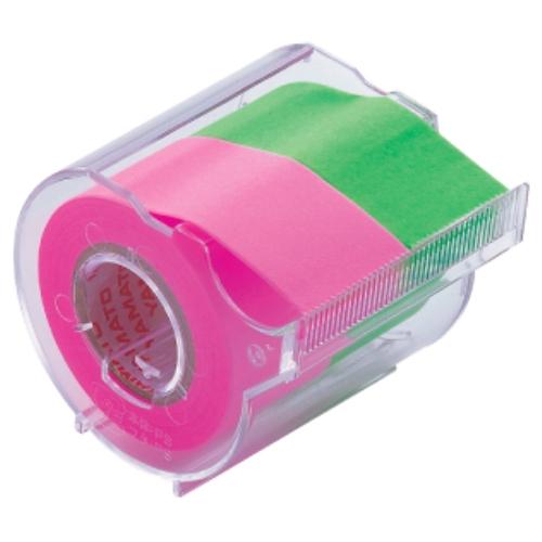 名入れ ヤマト メモックロールテープ(25mm幅) ローズ&ライム