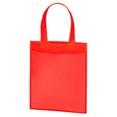 名入れ 不織布プロモーションバッグ レッド