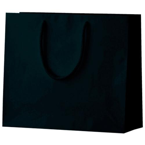 名入れ シャイニーバッグ ヨコ型黒
