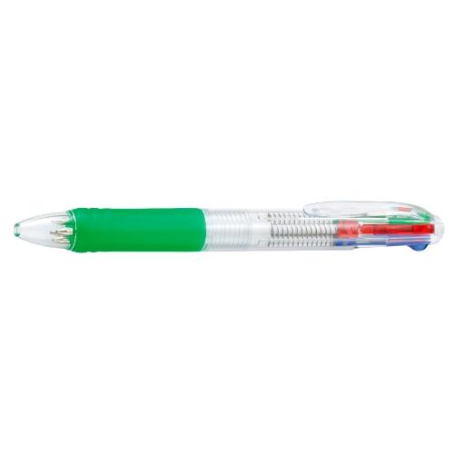 名入れボールペン 4色カラークリップボールペン グリーン