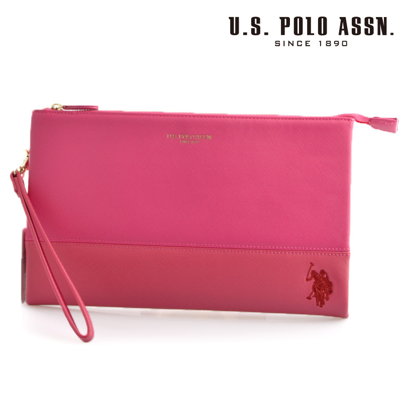 US POLO ASSN 500093 USPA-1903 ピンク dark ピンク サフィアノ クラッチバッグ 【新品・正規品・送料無料】 ギフト 【】