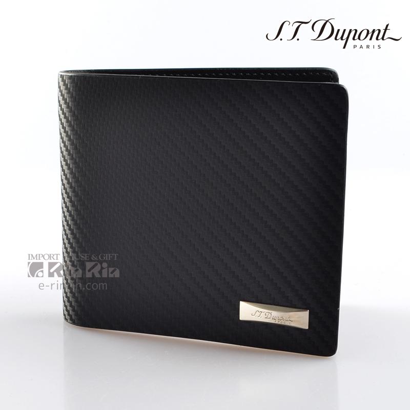 デュポン革小物 170002 デフィ 二つ折り財布カード8枚 IDホルダー ブラック 【新品・正規品・送料無料】 ギフト 【】