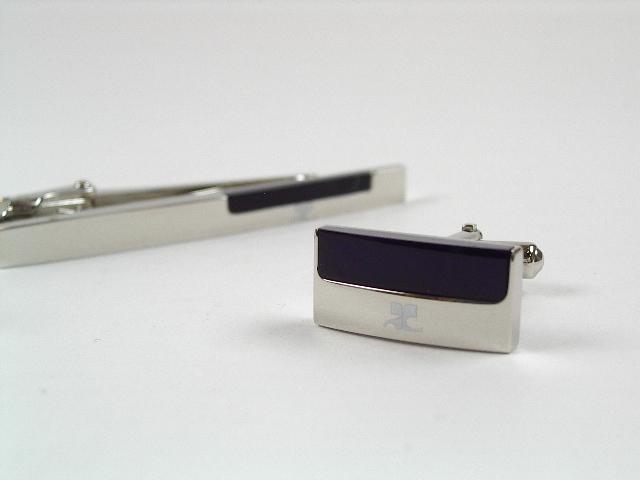 courreges(クレージュ)カフス&タイピンセット ct4006b-cc6006b【新品・正規品・送料無料】 ギフト 【】