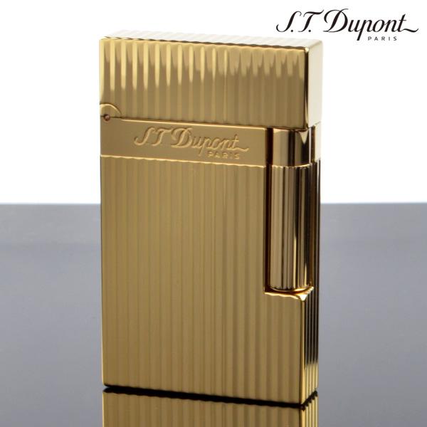 【送料無料】デュポン ライン2 LIGNE2 16827 ヴァーティカル・ライン イエローゴールド(ガス1本・フリント1シート特典付) デュポン ライター[Dupont] ブランド ライター フリントライター 【新品・正規品】 【】