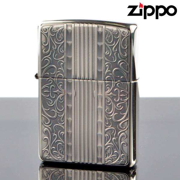 【y送料無料】Zippo ジッポライター 2si-art アラベスク ゴールド 銀メッキいぶし仕上げ彫刻エッチング両面加工 【新品・正規品】 【】