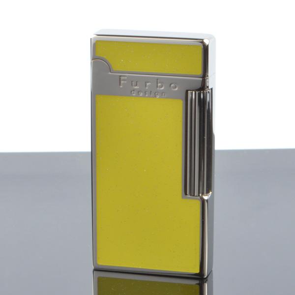 Furbo design fd100-10 ダイアナシルバー ポリッシュ イエロー フリントガスライター サロメライター 【新品・正規品・送料無料】 ギフト 【】