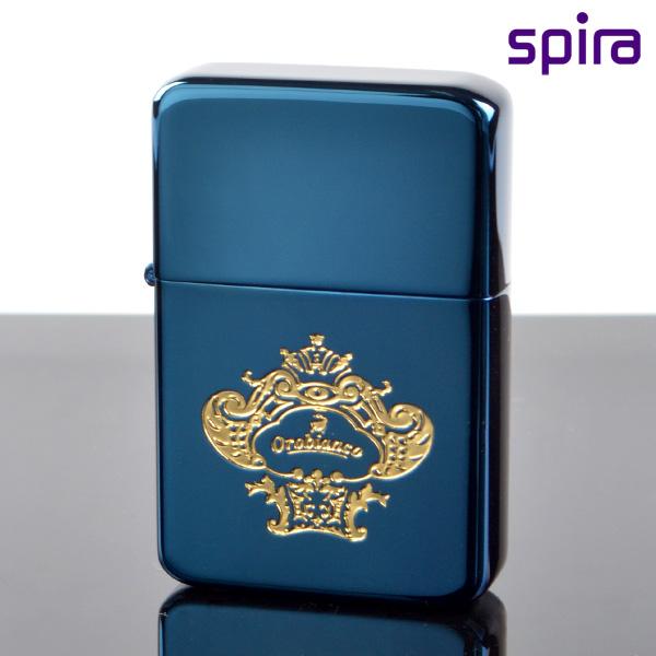 スパイラ USB充電バッテリーライター OSP-101BL オロビアンコ ブルー チタンコーティング osp-101bl 【新品・正規品・送料無料】 ギフト 【】