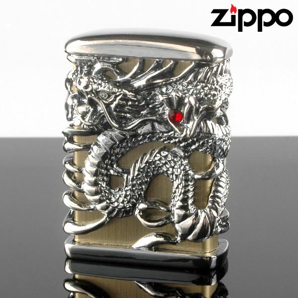 ZIPPO ジッポー ライター 天龍 古美シルバー フルメタル アーマージャケット TR-GIB