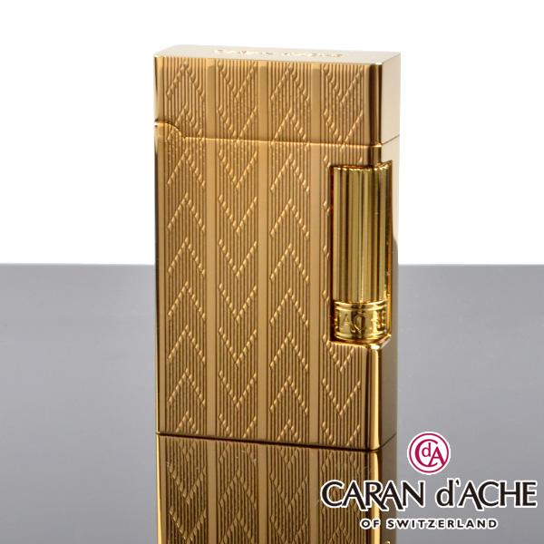 【送料無料・新品】カランダッシュ ライター cd20-2003 ゴールドシェブロン [CARAN d'ACHE] フリントライター【新品・正規品】 【】
