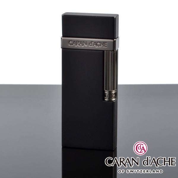 【送料無料・新品】カランダッシュ ライター cd30-3002 ガンメタル黒マット [CARAN d'ACHE] フリントライター【新品・正規品】 【】