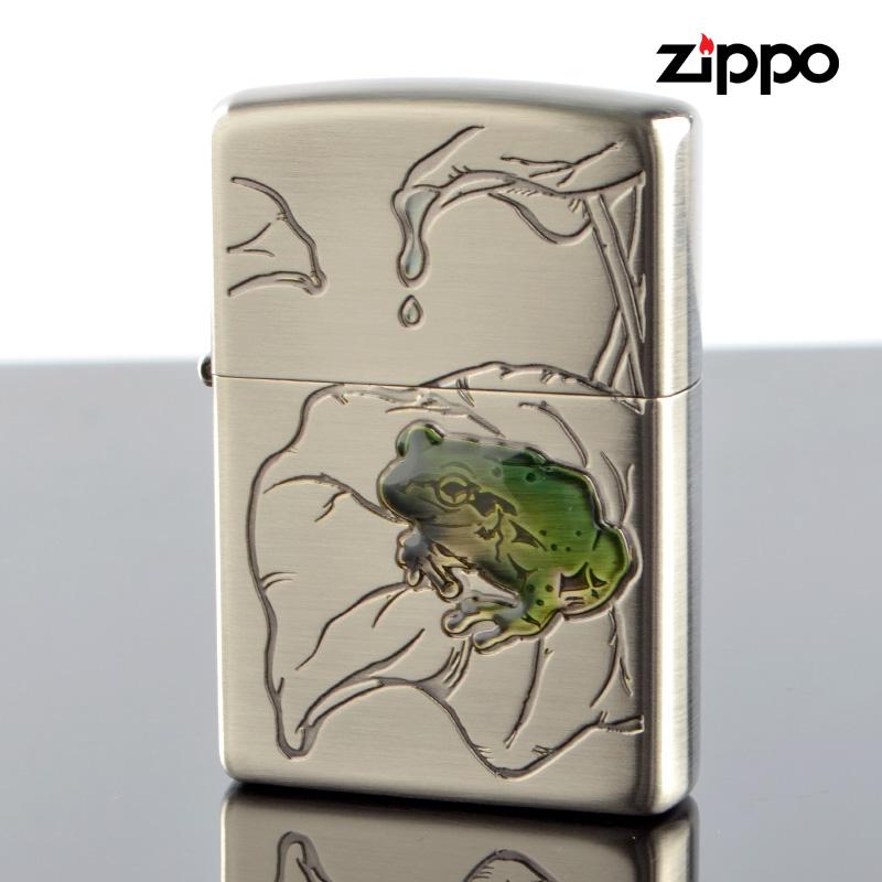 【m送料無料】Zippo ジッポライター zp63430198 蛙 かえる ニッケル古美 【新品・正規品】 【】
